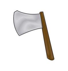 ax weapon viking halloween imitation accessory vector image