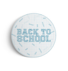 Back to school realistic banner on white vector