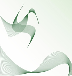 Background with abstract bird vector