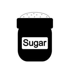 Bag of sugar icon vector