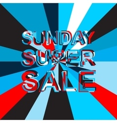 Big ice sale poster with sunday super sale text vector