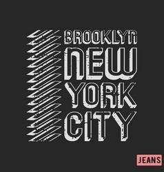 Brooklyn new york city t-shirt print design vector