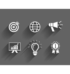 business and leadership icons vector image vector image