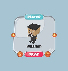 Character game assets element vector