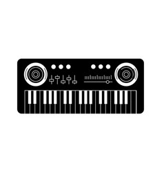Contour piano musical instrument to play music vector