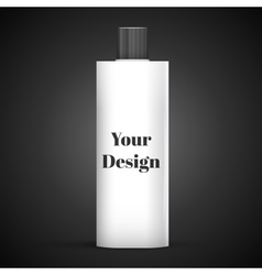 Cosmetic Or Hygiene Grayscale White Gray Chrome vector image vector image