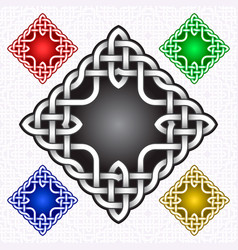 Cruciform logo template in celtic knots style vector