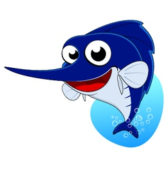 cute marlin fish sword fish vector image vector image