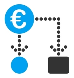 Euro flow chart icon vector
