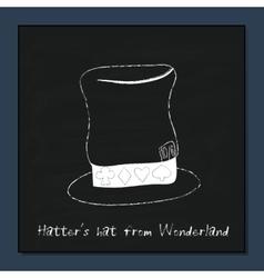 Hatter Hat from Alice Adventures in Wonderland vector image