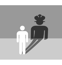 Man icon casting a king shadow vector image