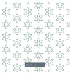 Minimal flower pattern background vector