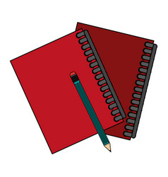 pencil notebooks front vector image vector image