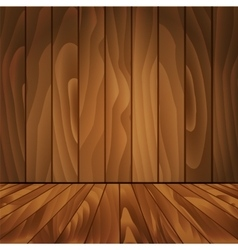 Realistic wood floor and wall for your design vector