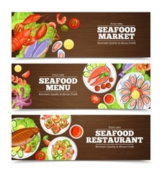 Seafood Banners Design vector image