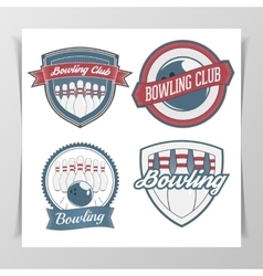 Set of Bowling Design Elements vector image