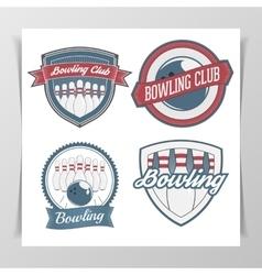Set of Bowling Design Elements vector image vector image