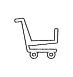 shopping cart market online line vector image vector image