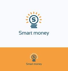 Smart money logo vector