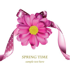 Spring pink flower card background beautiful vector