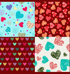 St valentines day backgrounds doodle hand drawn vector