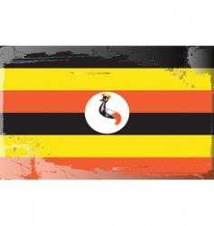 Uganda national flag vector