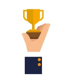 trophy cup award isolated icon vector image