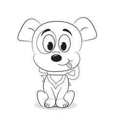 Cartoon dog vector image