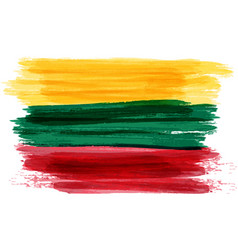 Grunge flag of lithuania vector