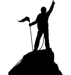Summit success vector image