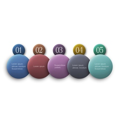 Buttons options infographics design vector