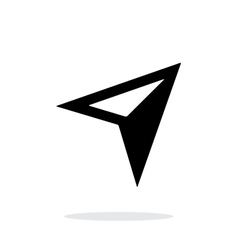 Arrow navigator icon on white background vector