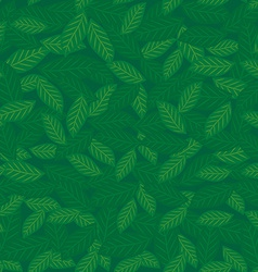 Seamless pattern with leaves green background vector