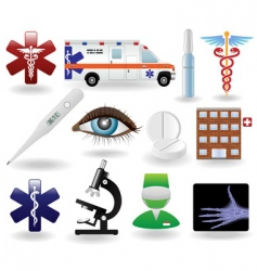 Medical icons and symbols set vector