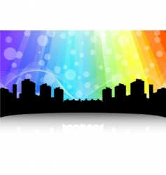 cityscape design abstract background vector image
