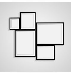 Blank frame on a white background vector