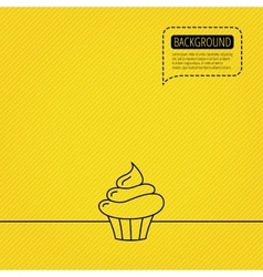 Cupcake icon dessert cake sign vector
