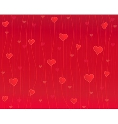 Hearts on the thread red background vector