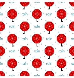 Seamless pattern red umbrella flat vector