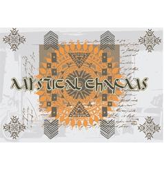 Mystical charm spell vector