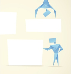 Abstract origami banners vector