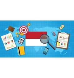 Indonesia economy economic condition country with vector