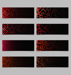 Abstract digital rounded square mosaic pattern vector