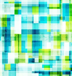 Bright cells seamless pattern with grunge effect vector
