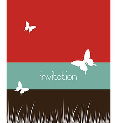 Butterflies and grass background vector image vector image