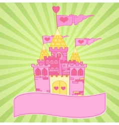 Castle background vector
