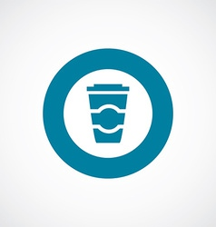 Coffee icon bold blue circle border vector