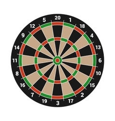 Dartboard Isolated on White Background vector image vector image