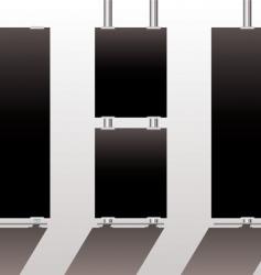 display stands black vector image