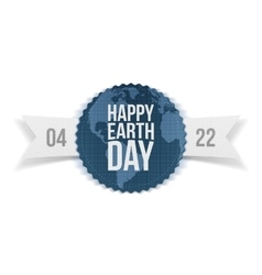Earth Day festive Banner with Ribbon vector image